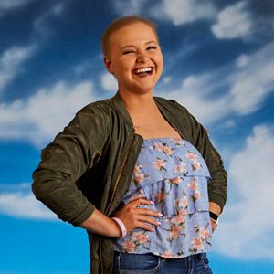 Ashley H., cancer survivor and Face of The Giving Gig 2019