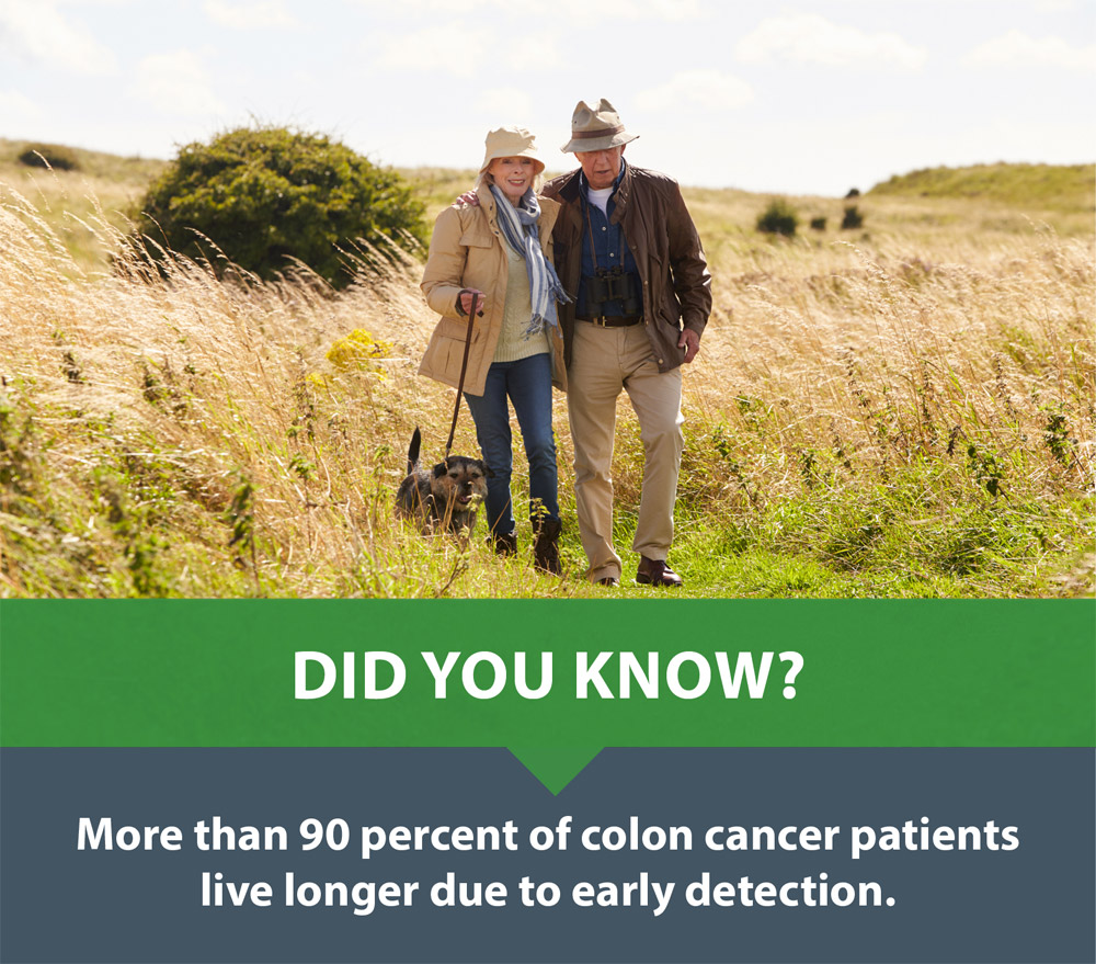 A screening could prevent colon cancer.