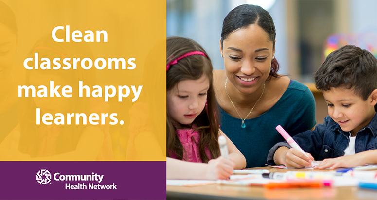 10 tips for a clean classroom | Community Health Network