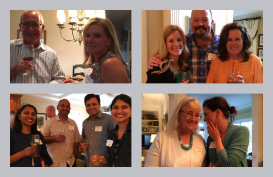 Physician social gathering collage