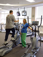 Cardiac rehabilitation exercise patient