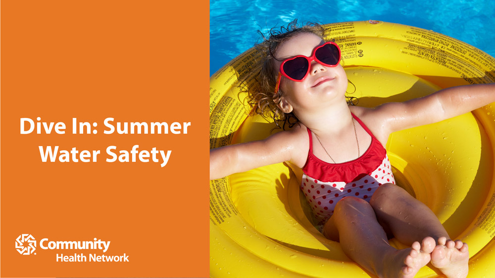 Summer water safety graphic