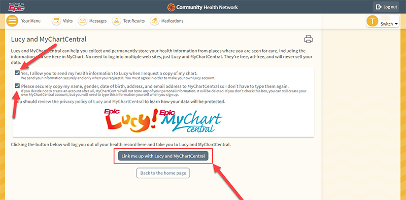 Lucy and MyChart Central