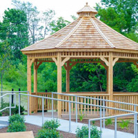 Therapy courtyard and gazebo