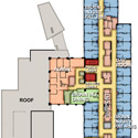 Rehab Hospital North second floor map