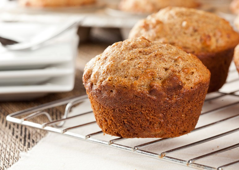 Pumpkin bran muffins for fall