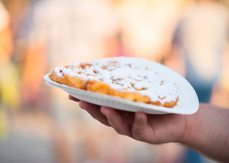 Funnel cake at the fair