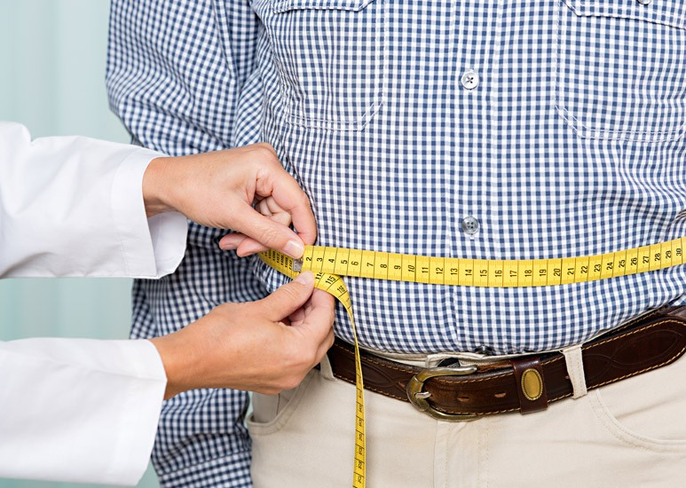 Measuring a man's belly fat