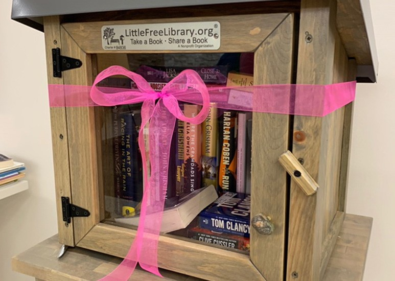 Little Free Library at Community Hospital North