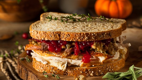 Turkey and cranberry sandwhich