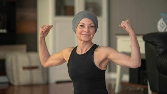 Strong woman with cancer