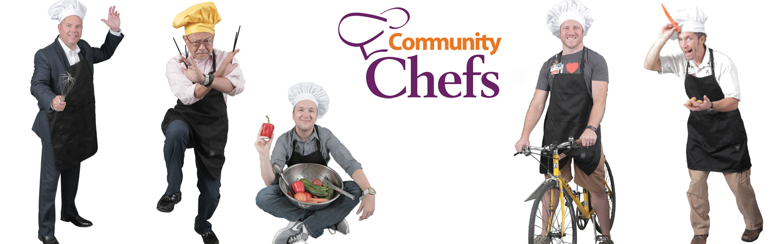 Community Chefs logo and chefs
