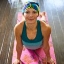 Cancer patient doing yoga therapy