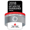 Get With The Guidelines® Stroke Silver Plus and Target: Stroke award badge