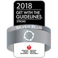 Get With The Guidelines® Stroke Silver Plus award badge