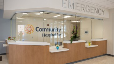ER desk at the new Community Hospital East patient tower